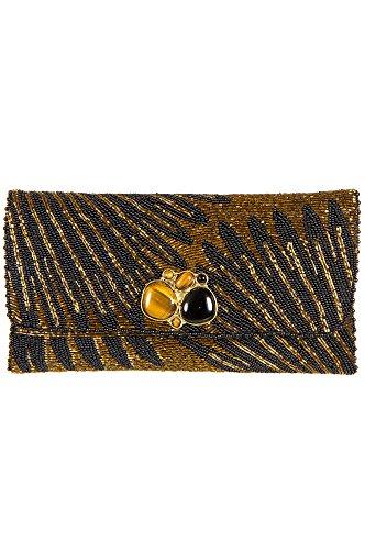 Striking Mary Frances Designer Clutch Handbag