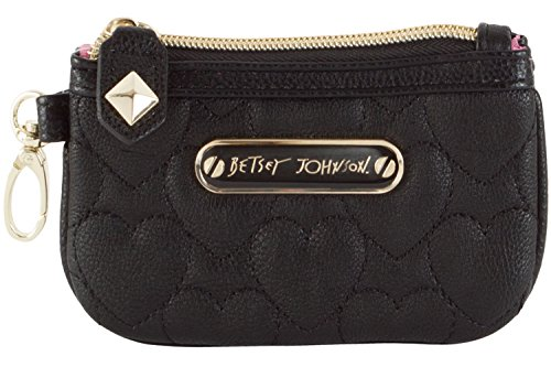 Betsey Johnson Be My Sweetheart Top Zip Small Wristlet Wallet