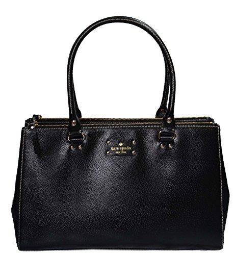 Kate Spade Wellesley Martine Black Leather Purse Shoulder HandBag WKRU1659