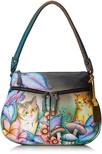 Anuschka Zip-top With Expandable Pockets Shoulder Bag