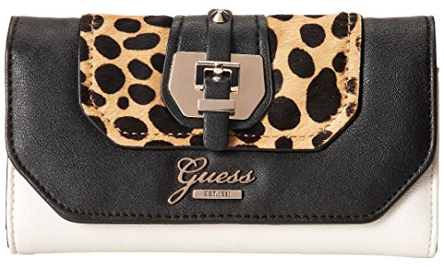 GUESS Women's Confidential SLG Slim Clutch Wallet, Leopard