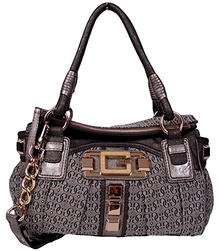 Guess Galgary Satchel Handbag Bag Purse (Pewter / Grey)