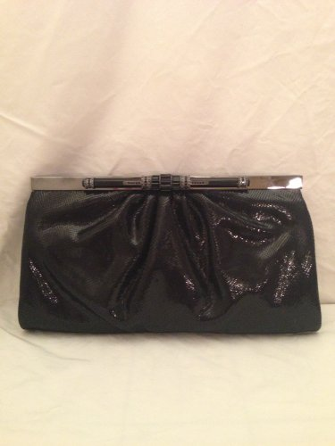 NEW Judith Leiber M Viper Paula Deco Clutch – Black- Retailed $2695.