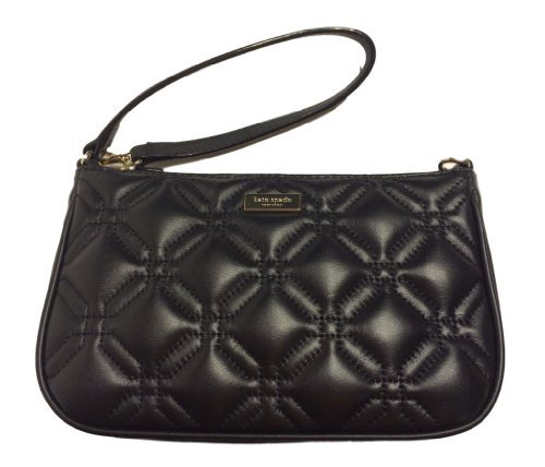 Kate Spade Astor Court Linet Black Leather Wristlet