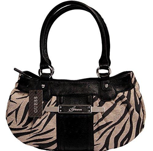 Guess Feisty Animal Zebra Satchel Handbag Bag