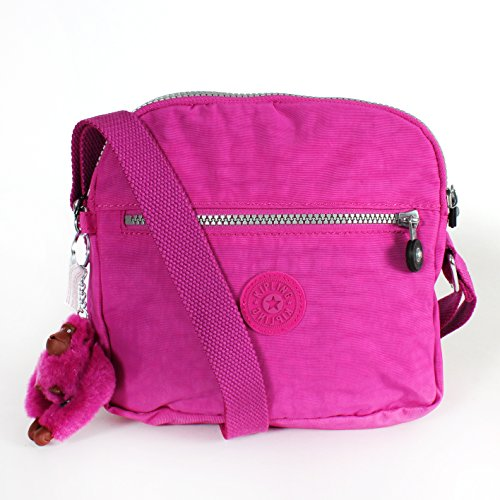 Kipling Keefe Shoulder Bag Crossbody Pink Orchid
