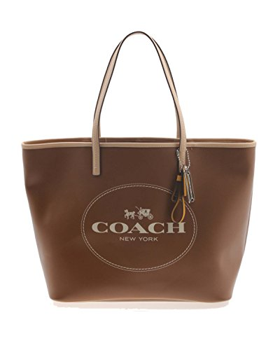 Coach Horse & Carriage Large Leather Tote Saddle 31315
