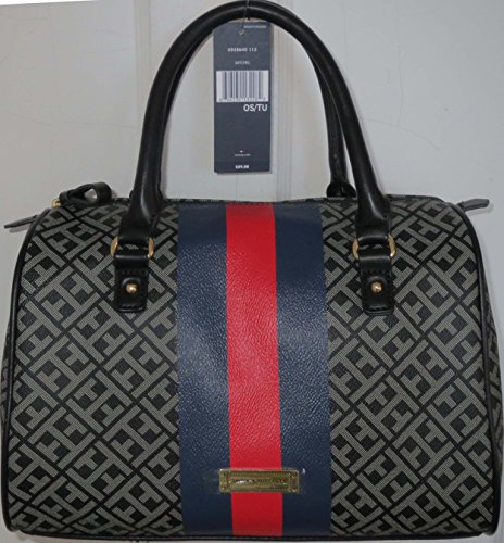 Tommy Hilfiger Handbag Box Satchel Bag Black PVC Large