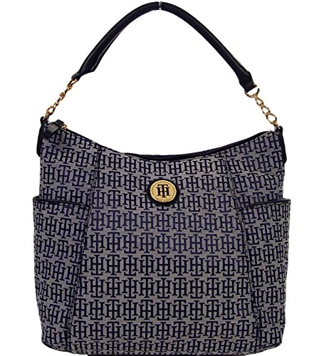 Tommy Hilfiger Blue Hobo Bag Handbag Purse