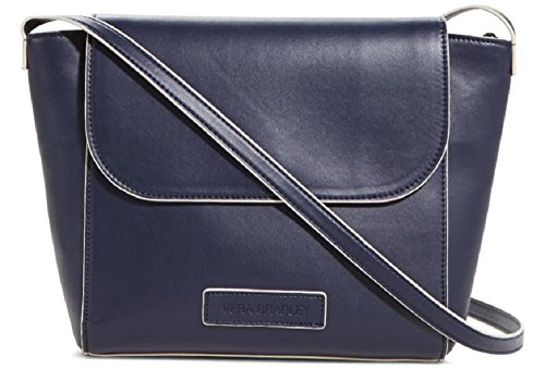 Gorgeous Vera Bradley Flap Crossbody Handbag in Navy Faux Leather Collection