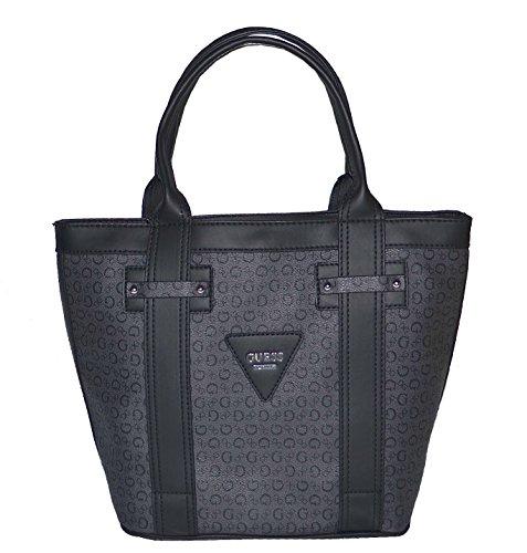 GUESS Signature Bright Candy Tote Bag Handbag Purse Black