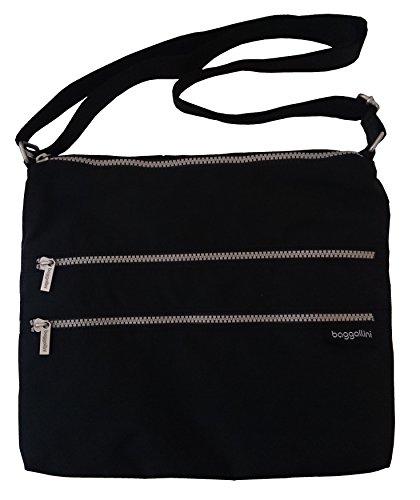 Baggallini Special Edtion Large Zipper Shoulder Bag Black