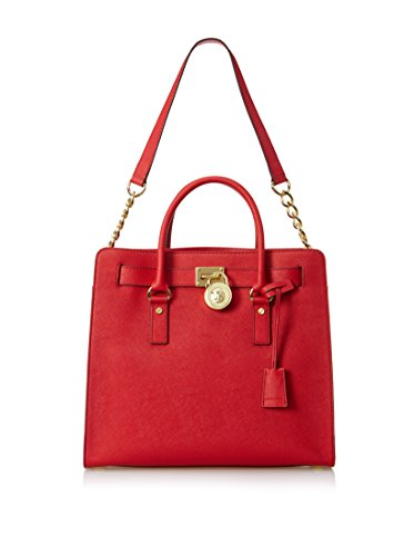 Michael Kors Hamilton Large North South Red Saffiano Tote