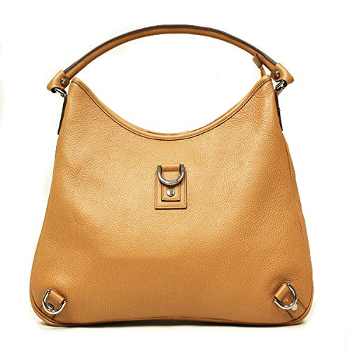 Gucci Large Tan Brown Leather D Ring Hobo Bag 268636