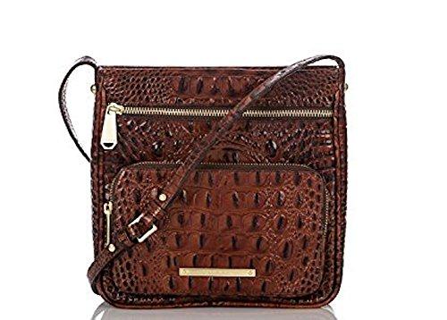 Brahmin Genuine Leather Tilda Ember Melbourne Pecan Cross Body Handbag