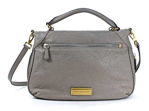 Marc Jacobs Amee Warm Zinc Brown Leather Handbag Crossbody Purse Bag