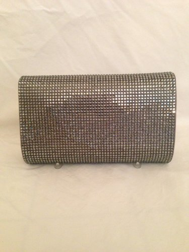 Judith Leiber Classic Slide Lock Crystal Minaudiere Clutch-black Diamond Color
