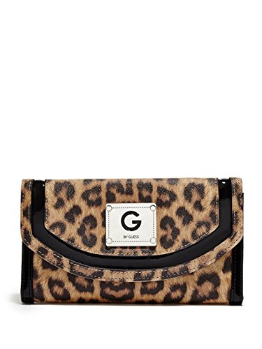 G by GUESS Women's Idona Leopard Checkbook Wallet