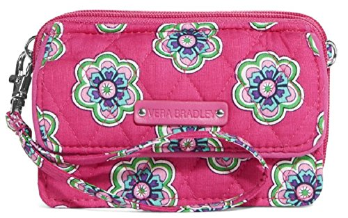 Gorgeous Vera Bradley All in One Crossbody in Pink Swirls Flowers Inside Out Pattern