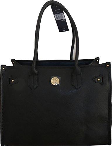 Tommy Hilfiger Handbag Tote Bag Black PVC XXXL