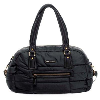 TWELVElittle Companion Satchel Diaper Bag in Black