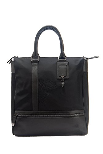 Versace Collection Unisex Nylon & Leather Luxury Briefcase Travel Work Bag