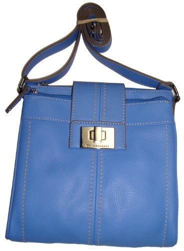 Tignanello Women's Pebble Convertible Xbody Handbag, Peri/Blue