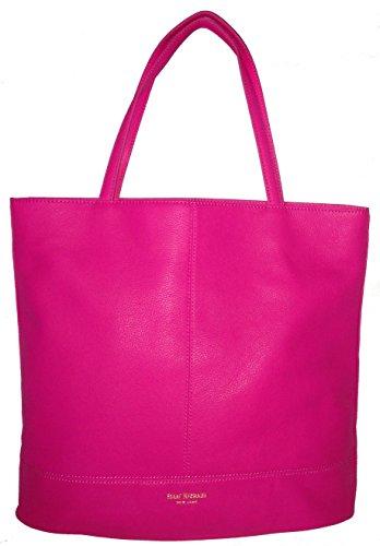 Isaac Mizrahi Leather Tote Bag Berry