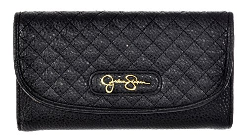 Jessica Simpson Black Katie Trifold Snap Wallet