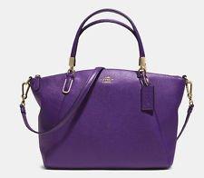 New Coach 33733 Pebble Leather Kelsey Crossbody Satchel Handbag Violet