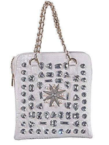 George Versailles Crystal Bling Fashion Handbag Shoulder Tote Bag Evening Party Bag