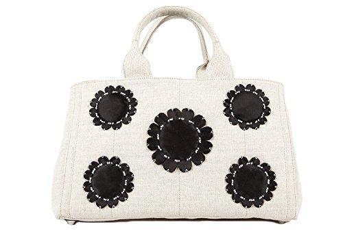 Prada women's handbag shopping bag purse black