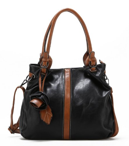Scarleton Dual Tone Accent Tote Handbag H1442