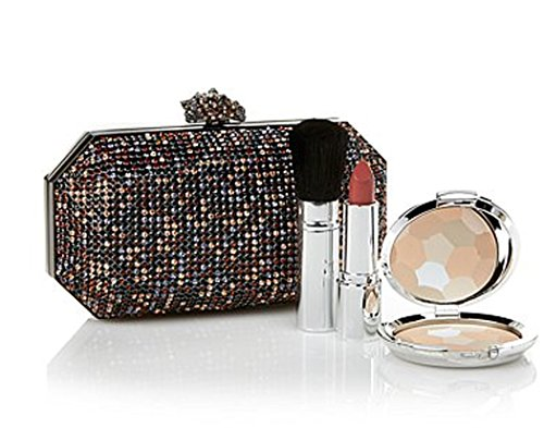 Real Collectibles by Adrienne Remarkable Jeweled Evening Bag + Powder,Lipstick~ Hematitetone/Multi