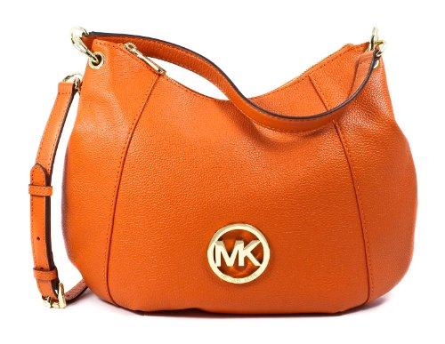 Michael Kors Fulton Large Leather Convertible Shoulder Bag Tangerine