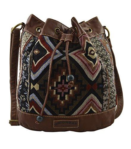 Unionbay Canvas Aztec Handbag Hippie Boho Hobo