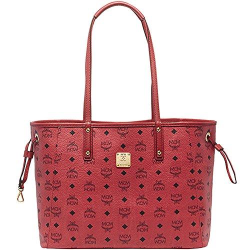 2014 AW MCM SHOPPER PROJECT Medium Size Reversible Shopper Bag Red MWP4AVI38RE