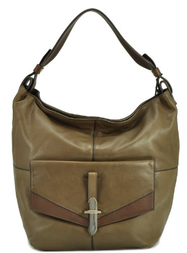 Kooba Women's Bedford Leather Shoulder Bag, Fog, One Size
