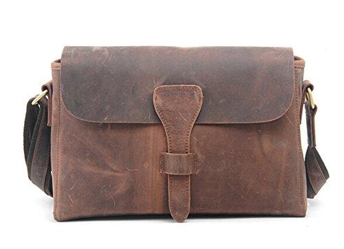 Bronze Times(TM) Vintage Disdressed Leather Luggage Messenger Shoulder Bag (Brown)