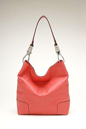 Tosca Classic Shoulder Handbag (Light Red)