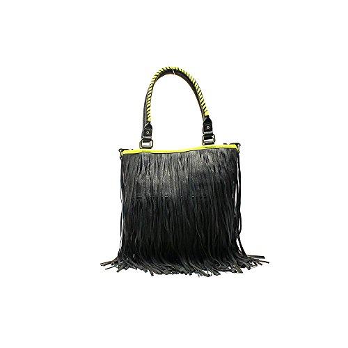 Steve Madden Fringey Womens Faux Leather Shoulder Bag
