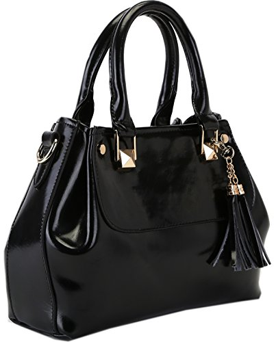 Heshe Ladies Genuine Leather Fashion Designer Tote Cross Body Shoulder Bag Handbag