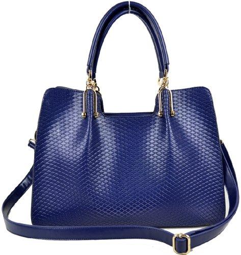 Heshe Women's Genuine Leather Office Lady Shoulder Bag Cross Body Everyday Handbag