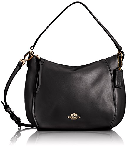 Coach 51900 Madison Leather Top Handle Crossbody Bag in in Black