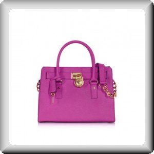 Michael Kors Hamilton Saffiano Leather Satchel Fuschia Pink