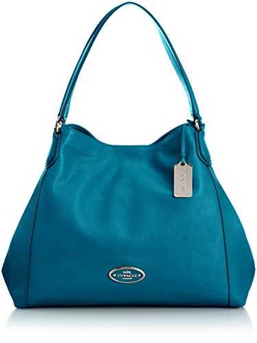 Coach Refined Pebbld Leather Edie Shoulder Bag