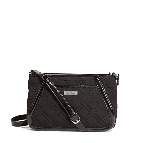 Vera Bradley Trimmed Trapeze Crossbody in Classic Black with Black Trim