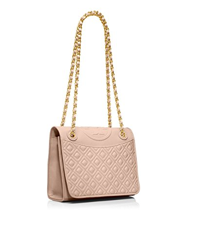 Tory Burch Fleming Medium Bag Double Pocket Purse Handbag Logo Soft Leather Chain Strap