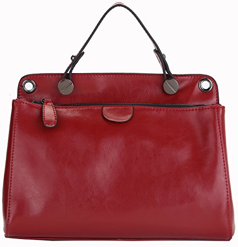 Heshe 2014 New Women's Multifunctional Designer Tote Cross Body Shoulder Motorcycle Bag Handbag