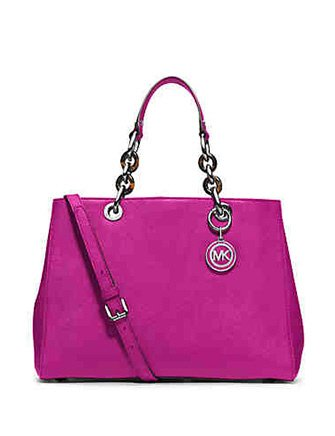 Michael Kors Cynthia Medium Satchel Pink